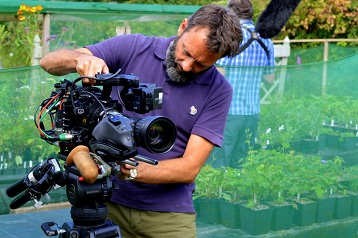 BBC Gardener's World filming at the nursery